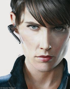 Agent Maria Hill (drawing) by Quelchii