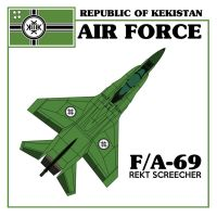 FA-69 REKT SCREECHER Kekistani Fighter Jet by paradigm-shifting