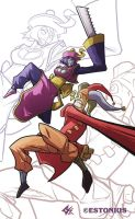 Darkstalkers: Hsien-Ko VS Cyjester! By G-Chris! by Estonius