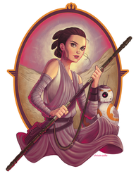 Rey and BB8 by ChrissieZullo