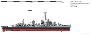 USS Kidd DD-661 (August 1945) - Measure 22 by ColosseumSB
