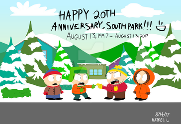 Happy 20th Anniversary South Park by K9X-Toons-n-Stuff