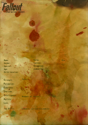 Blank Fallout Character Sheet by Hyourin