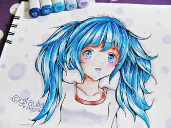 Copic Marker Hair Practice by GFArt08