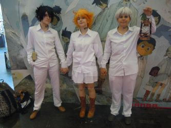 Ray Emma et Norman de The Promised Neverland