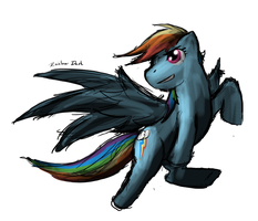 Rainbow Dash Fast Drawing by OscarAnoA
