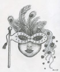 Mask (pencil) by Cami-Emmy
