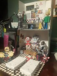 Papercraft fnaf baldi's basics display by fluffycutest23