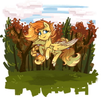 [Commission] A nice Flight in Autumn [gif] by KYAokay