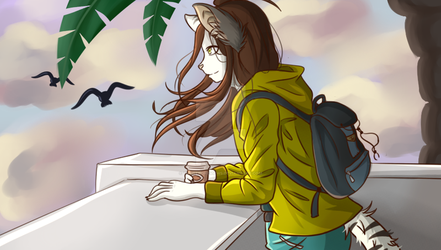 With coffee in the evening by TheNekoReviews