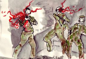 Grindhouse: Army Dudes by JessicaDru