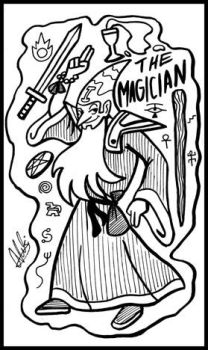 Inkwork Sorcery Tarot: The Magician by Goh