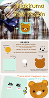 Rilakkuma Felt Patch Tutorial by zomgO3O