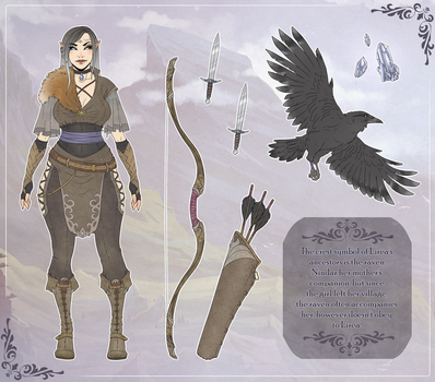 Lirea / Character Sheet B by Ryltha
