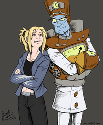 Tropy and Jeager - Mentor and Student by JenL