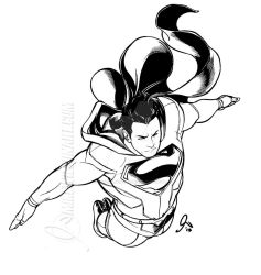 Superman 01 Small by mikewilsonart