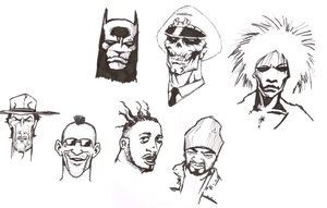 Random character doodles by Alexftw