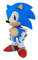 Classic Sonic Render! by TBSF-YT