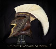 Spartan Thor Leather Helmet by Azmal