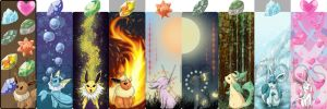 Bookmarks: Eeveelutions All by Natamash