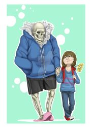 Sans and Frisk by Wyrmskin