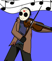 Jason and his violin by Ynnep