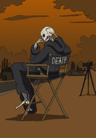 Death sitting in a directors c by Morgoth883