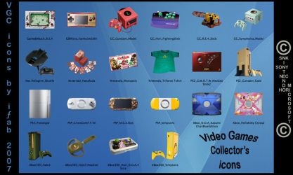 Video Games Collectors - icons by iFab