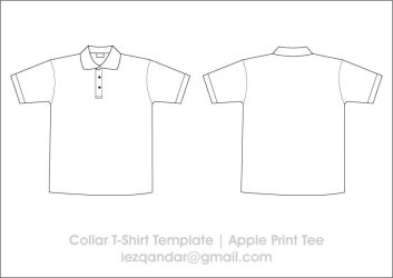 Collar Tee Template by iEzQaNDaR