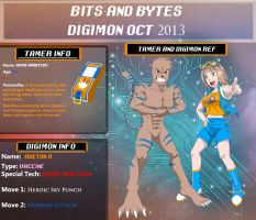 Bits and Bytes Digimon OCT 2013 - Aura y Queto by Color-Arcano