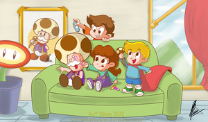 A Day With Kids by MKDrawings