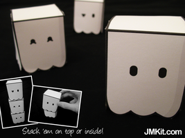 Ghost Cubes by JinxBunny