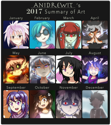 2017 Summary of Art by AniDrewit