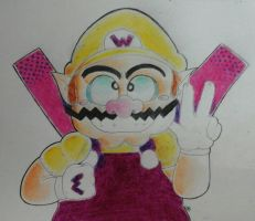 Wario (TRADITIONAL FANART) by Pineappa
