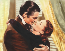 Clark Gable and Vivien Leigh by Ugorarts