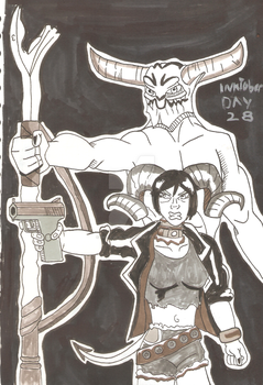 Inktober 2017 Day 28 - The Demons by Skullgrin-140