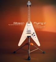Gibson Flying V Guitar by iceSkar