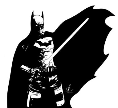 Batman - The Dark Jedi Knight by DynamixINK