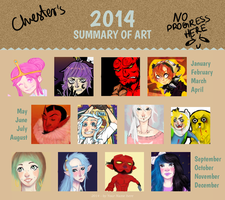 Chester's 2014 summary of art by SpookyChester