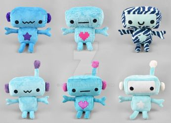 Blue Robot Plush Collection by SewDesuNe