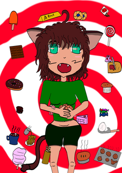 Myan Loves Sweets by ZeroKelvinKeyboard
