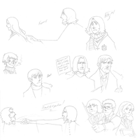 Harry Potter Sketch Dump. by uberrime
