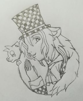 Mad Hatter Atticus(Sketch) by Wulfsista