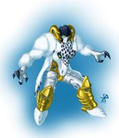 Beast Wars Grimlock Robot Mode by synth-brave