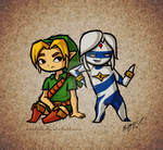 .:Commission:. Link and Alden by Anilede