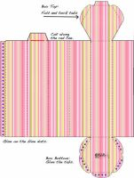 Striped Haxagonal Box Template by kAt-LIkeS-pIE
