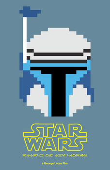 8-Bit Star Wars: Attack of the Clones Poster by EpsilonTLOSdark4