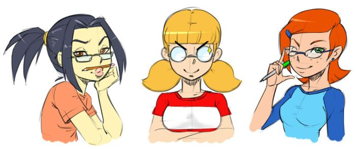 Lolis with glasses by Mr-Samson
