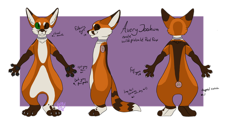 Avery Fursuit reference sheet 2018-19 by Maybe-Avery