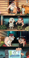 Grunkle Stan Gets Scared By Something by cartoonfanboyone